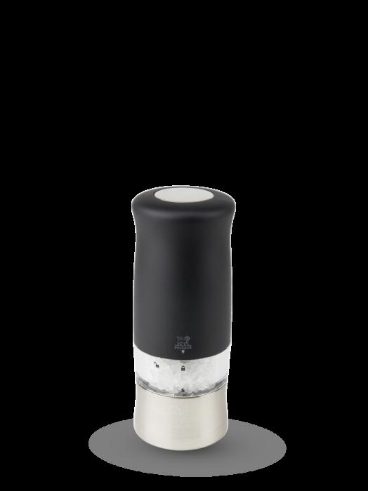 """Мельница Zephir Peugeot для соли,14 см, """"софт тач"""" чёрный, на батарейках"""