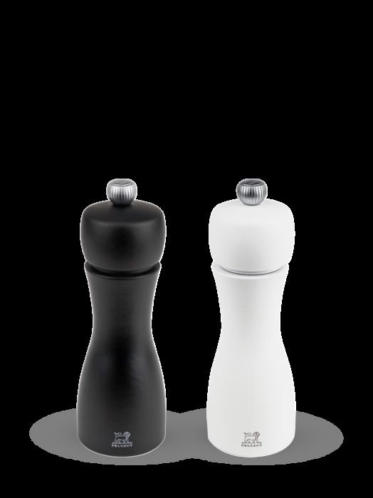 Набор мельниц Tahiti Peugeot для соли и перца, 15 см, белый+черный