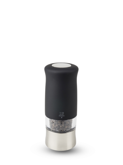"""Мельница Zephir Peugeot для перца, 14 см, """"софт тач"""" чёрный, на батарейках"""