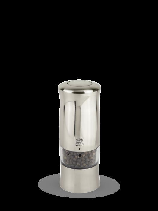 Мельница Zeli Peugeot для перца, 14 см, хромированный пластик, на батарейках